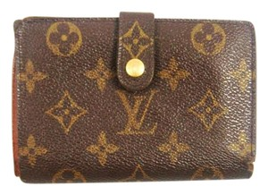 Louis Vuitton Monogram Canvas Leather French Clutch Snap Wallet