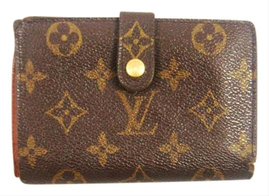 Preload https://item2.tradesy.com/images/louis-vuitton-brown-monogram-canvas-leather-french-clutch-snap-wallet-19094056-0-1.jpg?width=440&height=440
