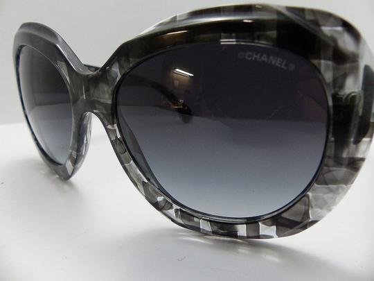 Chanel 5323 Signature Butterfly Square Shaded Silver CC Oversized Cateye Cat
