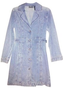 DKNY short dress Blue Jean Cotton on Tradesy