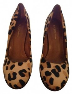 BCBGeneration Leopard Pumps