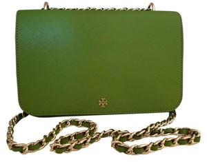 Tory Burch Saffiano Cross-hatched Shoulder Bag