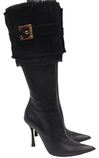 Preload https://img-static.tradesy.com/item/19094629/black-leather-swarovski-buckle-suede-fold-over-bootsbooties-size-us-6-regular-m-b-0-2-540-540.jpg