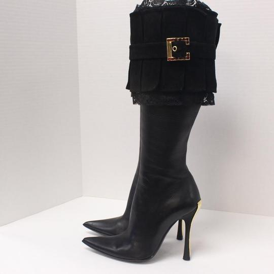 Gerardina Di Maggio Monogram Vintage Fall/Winter Transition Statement Piece Black Boots