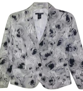 Willi Smith Floral Black, White and Grey Blazer
