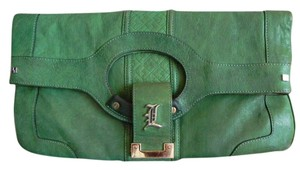 L.A.M.B. Leather Tote Vintage Green Clutch