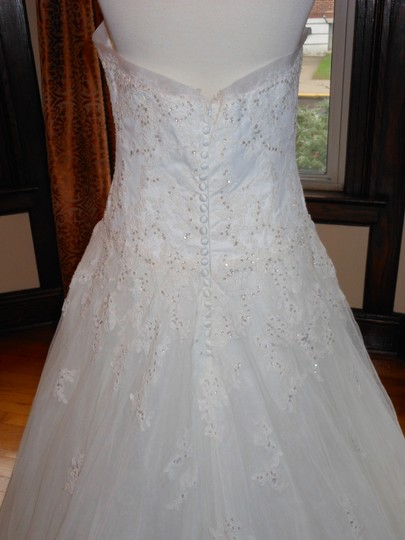 Pronovias Off White Jahi Destination Wedding Dress Size 10 (M)