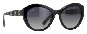 Chanel 5294 Signature Butterfly Lace Tweed Cateye CC Oversized Cat Polarized