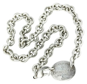 Tiffany & Co. Tiffany & Co Oval Tag Chain Necklace