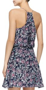 Joie short dress Blue Flowy Silk Print on Tradesy