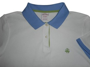 Brooks Brothers Tennis Golf Polo Button Down Shirt White