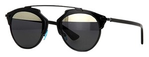 Dior -NEW- DIOR DIOR SO REAL BOYMD (color) - BLACK TRIM with GRAY LENS and SILVER MIRROR UPPER LENS