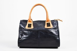 3.1 Phillip Lim Philip Navy Leather Tan Tote in Blue