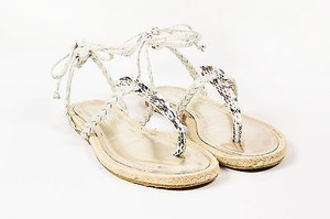 Jimmy Choo Taupe Silver Sandals