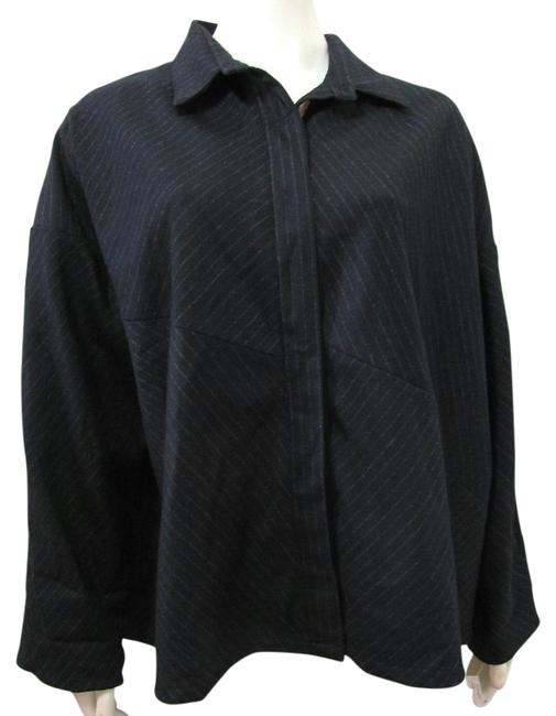 Preload https://item4.tradesy.com/images/black-new-wool-pinstriped-xl-spring-jacket-size-18-xl-plus-0x-19099123-0-1.jpg?width=400&height=650