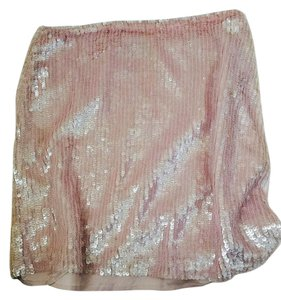 Banana Republic Mini Sequins Mini Skirt Pink