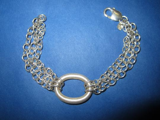 Other 999 Fine Silver Modernist Circle Bracelet Triple Better Than Sterling