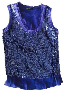 Kenneth Cole Sequin Going Out Top Deep purple