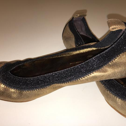 Chanel Gold/Black Flats