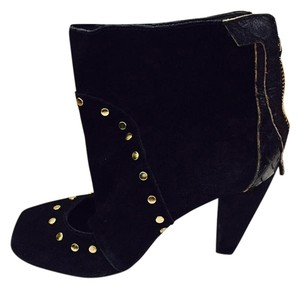 KATHRYN AMBERLEIGH Suede Studs Black Boots