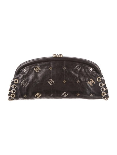 Chanel Limited Edition Charm Black Clutch