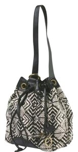 Lucky Brand Satchel in black and white