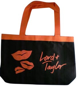 Lord & Taylor Carry On Travel Tote in Red/Orange and Black
