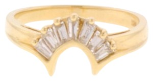 Other 14k gold .51 ct baguette cut diamond ring guard