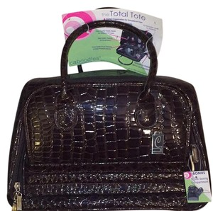 Caboodles Brown Crocodile Travel Bag