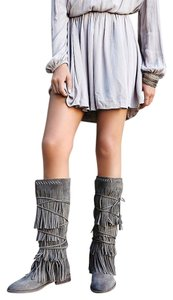 Farylrobin Free People Songbird 9 In Grey Suede New In Box Boots
