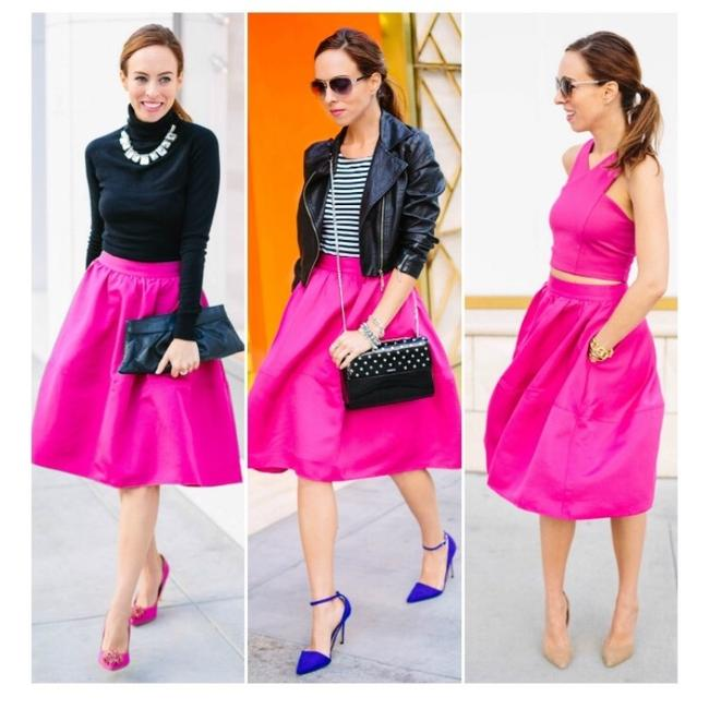XOXO Skirt Hot pink