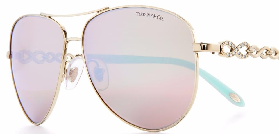 cce26935e199 Tiffany   Co. TF 3049 TF3049-B INFINITY AVIATOR CRYSTAL JEWEL VICTORIA BLUE  Image. 123456789101112