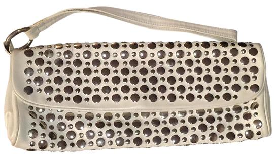 Preload https://img-static.tradesy.com/item/19100620/sonia-rykiel-studded-wristlet-white-leather-clutch-0-1-540-540.jpg