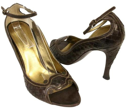 Bottega Veneta Intrecciato Chanel Louis Gucci Givemchy Brown Pumps