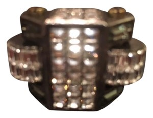 Lanvin Lanvin large costume ring with crystal stones