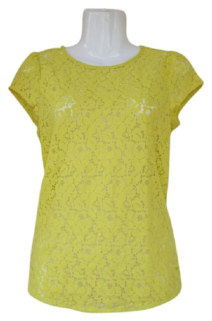 Preload https://img-static.tradesy.com/item/19100758/ann-taylor-loft-lime-green-lace-capped-sleeve-zipper-blouse-size-2-xs-0-2-650-650.jpg