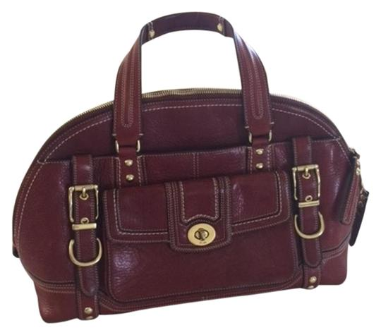 Preload https://item2.tradesy.com/images/coach-collection-burgundy-red-leather-satchel-19100776-0-1.jpg?width=440&height=440