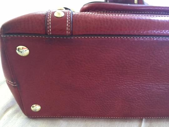 Coach Leather Gold Hardware Like New Interior Barely Used Vintage Satchel in Burgundy red