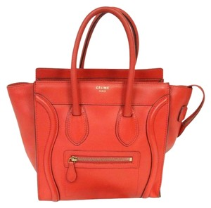 Cline Tri Color Chanel Quilted Satchel in Red
