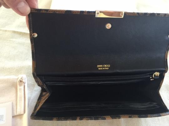 Jimmy Choo Never Used Leather Dust Animal print Clutch