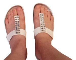 Other Silver and White Sandals
