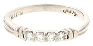 Scott Kay Platinum Scott Kay 1/4 ct diamond 4-stone band wedding engagement