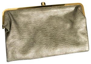 Vegan leather metallic clutch Metallic Silver Clutch