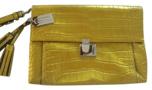 Coach Unique Color Leather Dust Collection Green/yellow Clutch