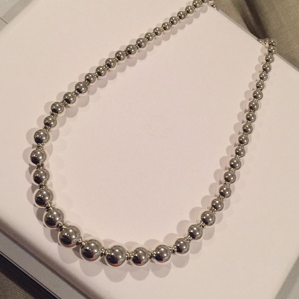 b41d1ce36 Tiffany & Co. Sterling Silver Graduated Ball Necklace Image 7. 12345678
