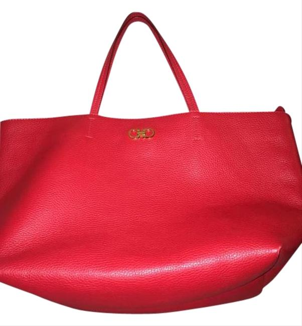 Item - Bice Red Leather Tote
