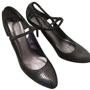 Via Spiga Pewter/ metal Pumps