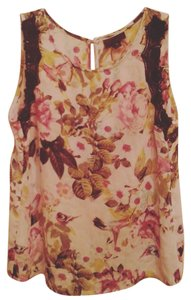 Worthington Sleeveless Floral Sheer Misses Top