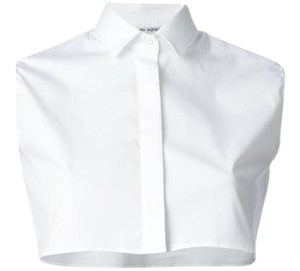 Neil Barrett Crop Cropped Button Down Shirt White