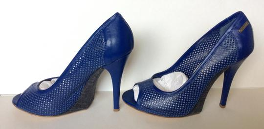 Gianfranco Ferre Leather Cobalt Blue Pumps
